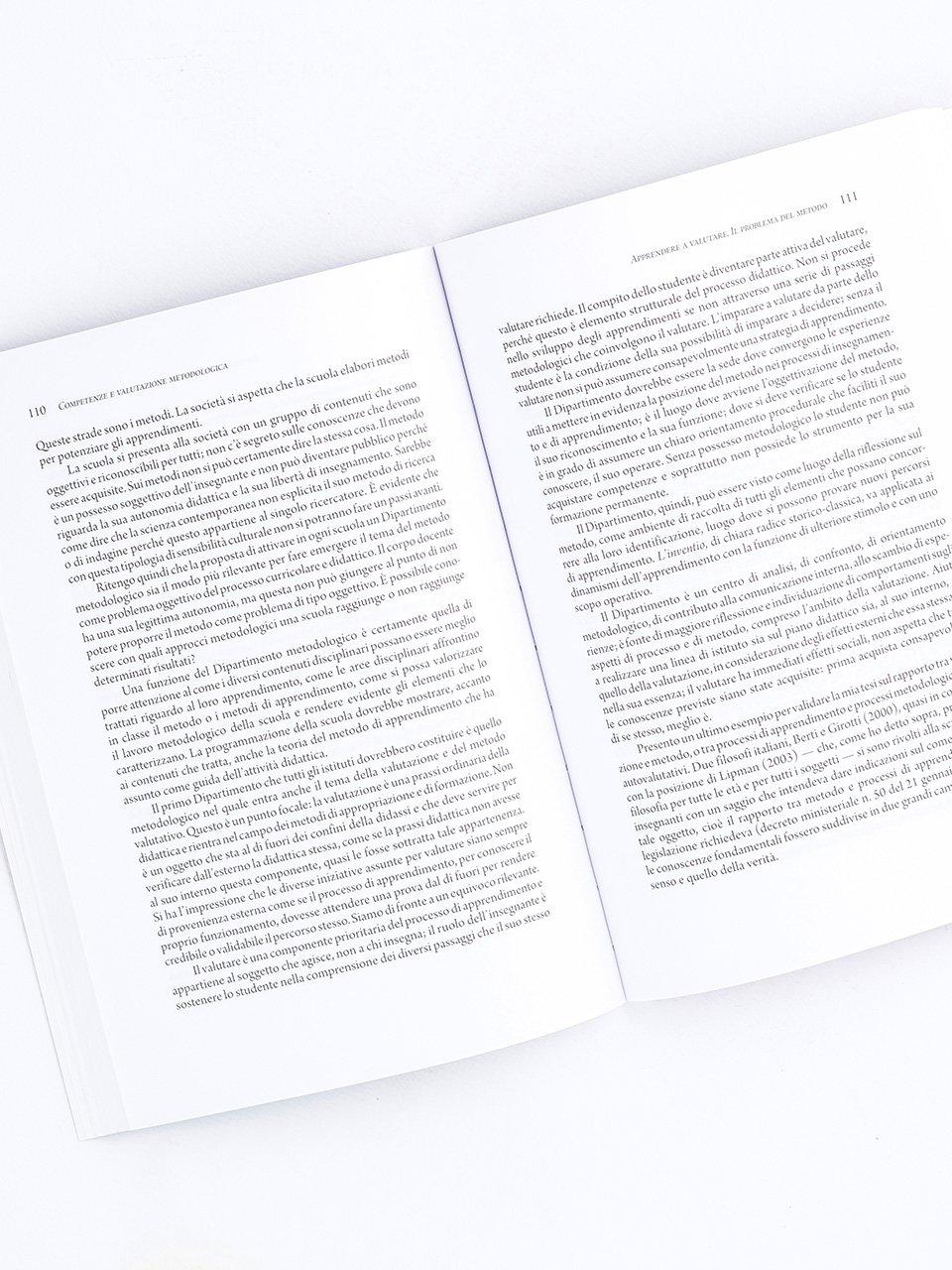 Competenze e valutazione metodologica - Libri - Erickson 2