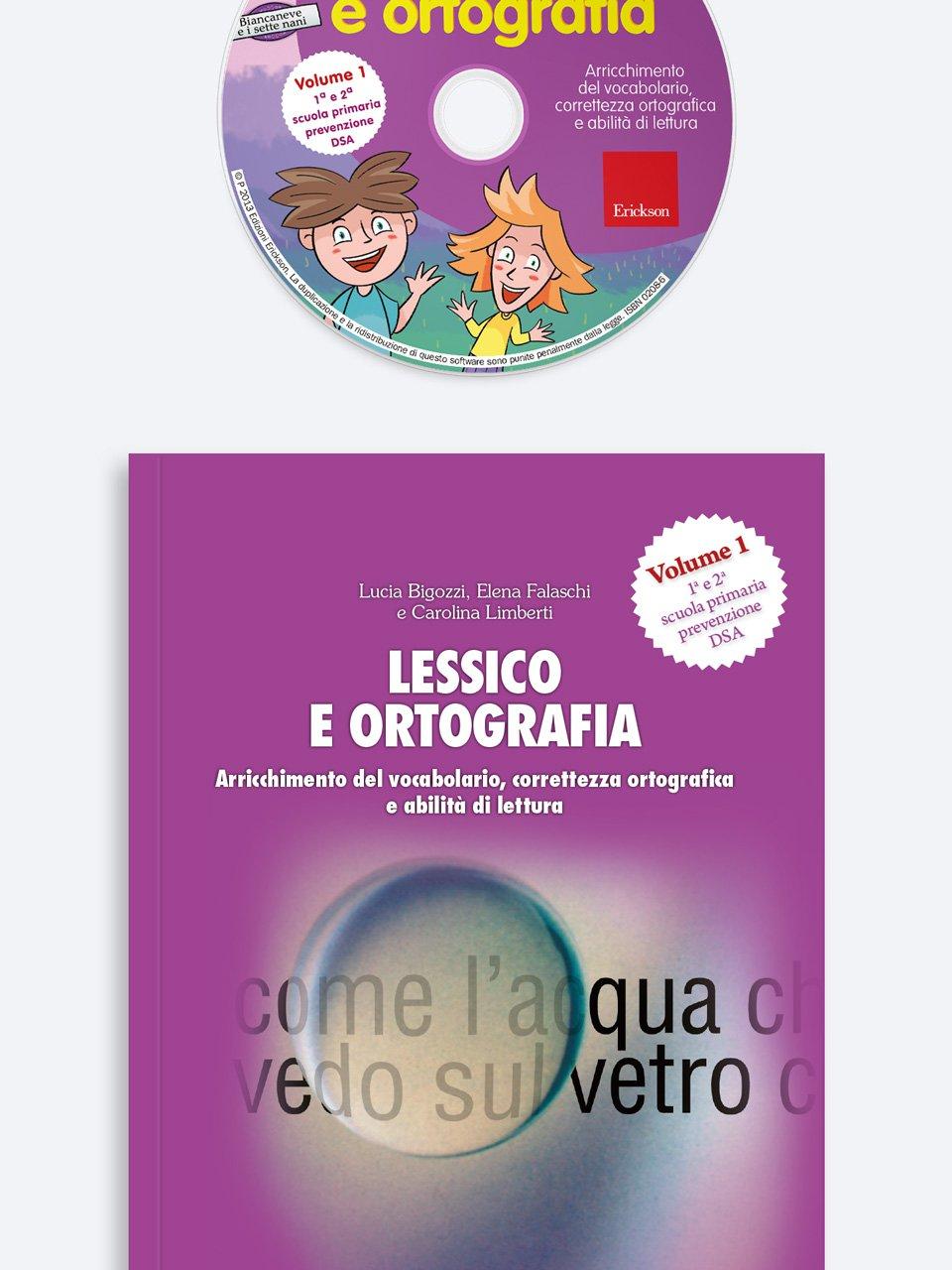 Lessico e ortografia - Volume 1 - Sillabe in gioco - Giochi - Erickson 3