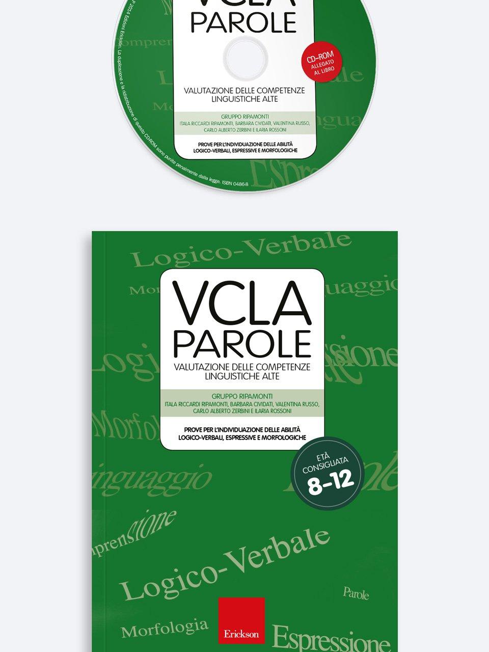 Test VCLA - Parole - Valutazione delle Competenze  - Libri - App e software - Erickson 7