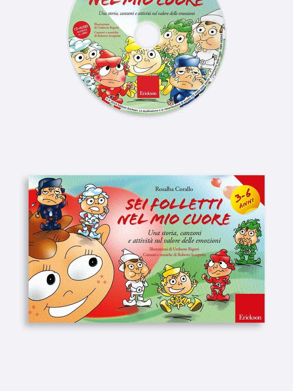 Sei folletti nel mio cuore (età 3-6 anni) - Aiutare i bambini... che temono di non essere amat - Libri - App e software - Erickson