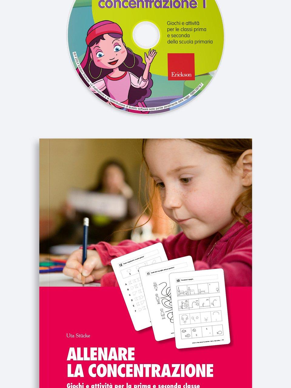 Allenare la concentrazione - Volume 1 - Allenare la concentrazione - Volume 2 - Libri - App e software - Erickson 2