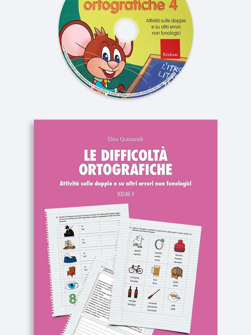 Le difficoltà ortografiche - Volume 4 - Schede per Tablotto (6-8 anni) - Grammatica incant - Giochi - Erickson 3
