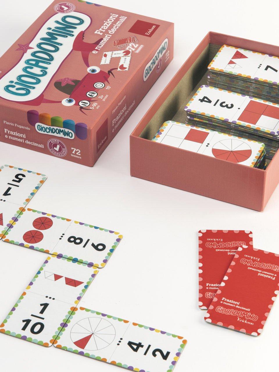 Giocadomino - Frazioni e numeri decimali - Giochi - Erickson 2