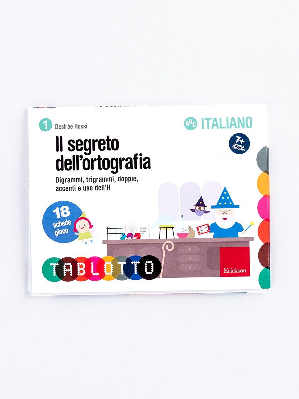 Schede per Tablotto (6-8 anni) - Il segreto dell'ortografia - Schede per Tablotto (6-8 anni) - Grammatica incant - Giochi - Erickson