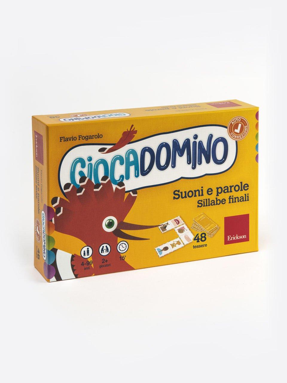 Giocadomino - Suoni e parole - Sillabe finali - Schede per Tablotto (6-8 anni) - La casa misterios - Giochi - Erickson