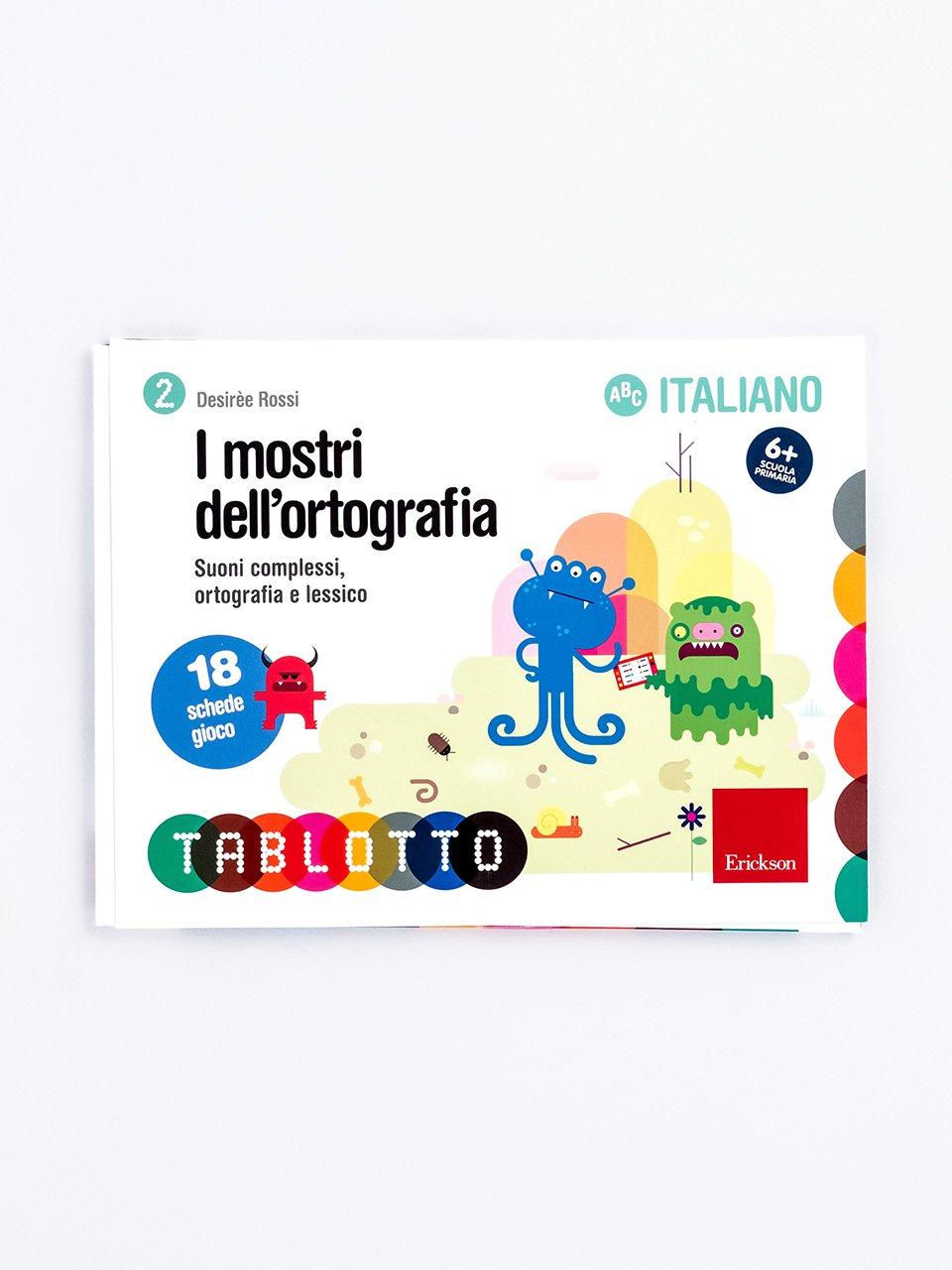 Schede per Tablotto (6-8 anni) - I mostri dell'ortografia - Sillabe in gioco - Giochi - Erickson