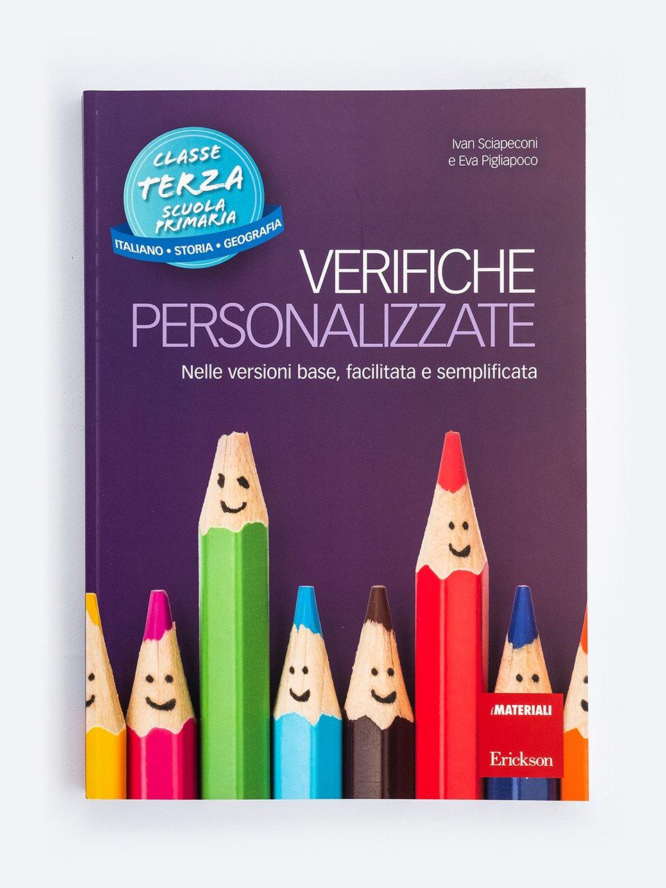 Verifiche personalizzate - Classe terza: Italiano, storia, geografia - CLIL mit LAPBOOK - Geografie - Classe quinta - Libri - Erickson