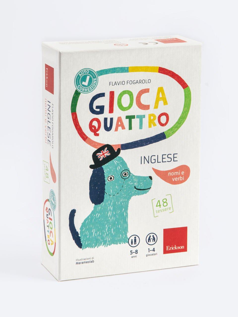 Giocaquattro - Inglese: nomi e verbi - Schede per Tablotto (Età 8+) - Play and Learn with - Giochi - Erickson