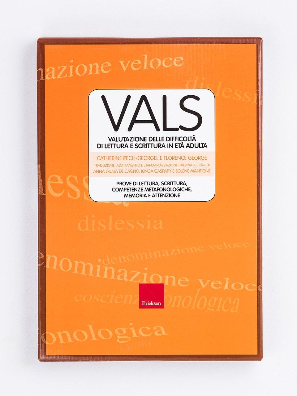 VALS - Valutazione delle difficoltà di lettura e scrittura in età adulta - Le aquile sono nate per volare - Libri - Erickson