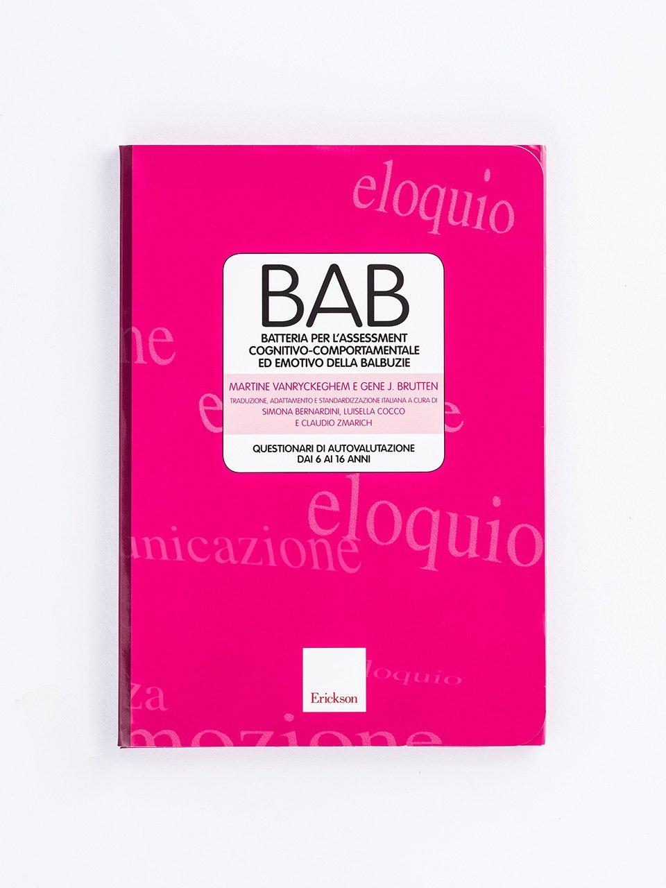 BAB - Batteria per l'assessment cognitivo-comportamentale ed emotivo della balbuzie - Tachistoscopio SUITE - App e software - Erickson