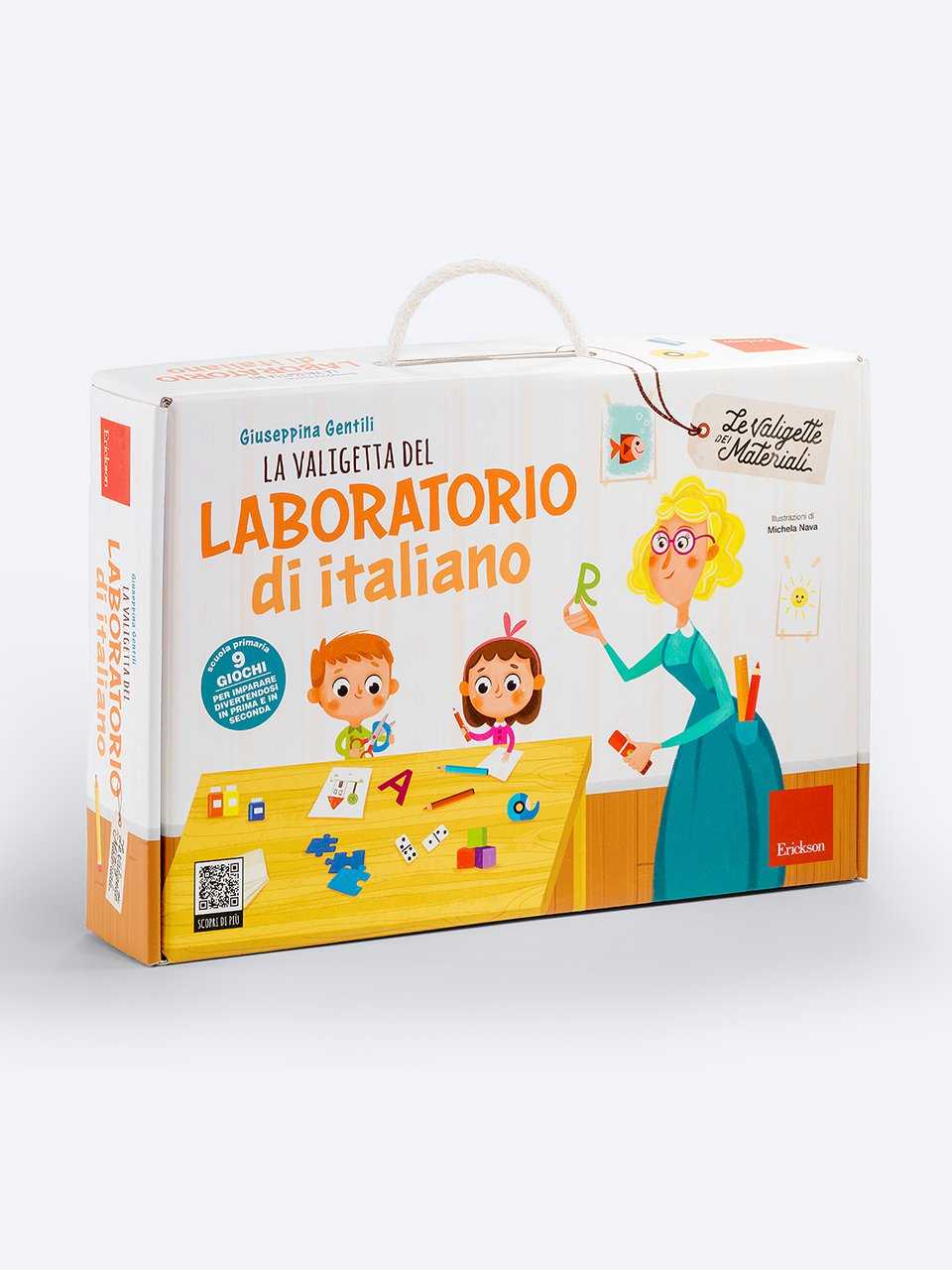 La valigetta del LABORATORIO DI ITALIANO - Schede per Tablotto (6-8 anni) - Grammatica incant - Giochi - Erickson