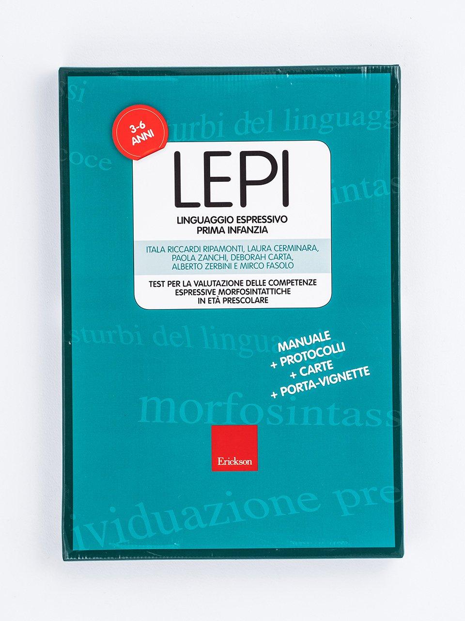 LEPI - LINGUAGGIO ESPRESSIVO PRIMA INFANZIA - Test TVL - Valutazione del linguaggio - Libri - Strumenti - Erickson