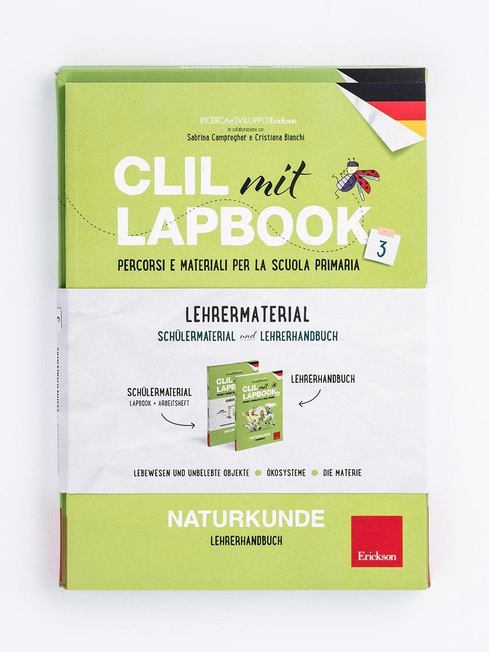 CLIL mit LAPBOOK - Naturkunde - Classe terza - Ricerca e Sviluppo Erickson  - Erickson