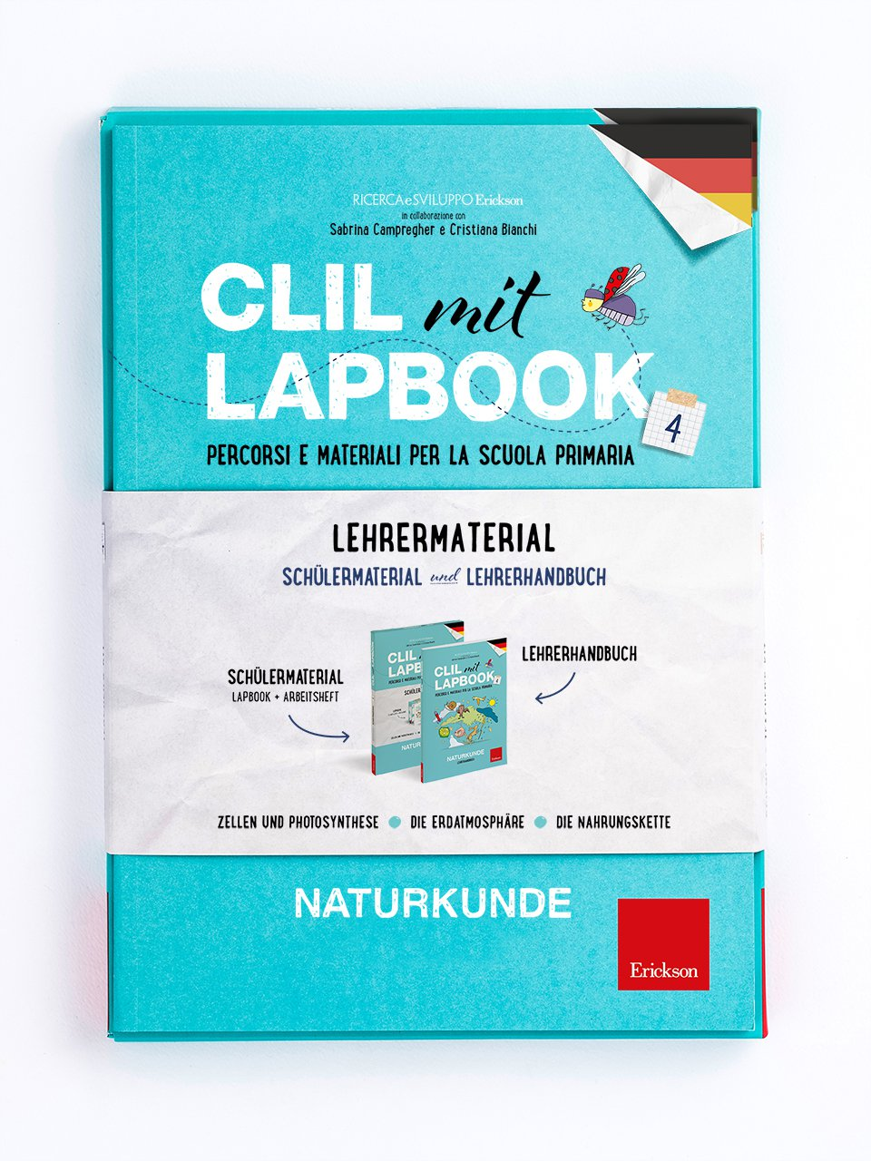 CLIL mit LAPBOOK - Naturkunde - Classe quarta - Ricerca e Sviluppo Erickson  - Erickson