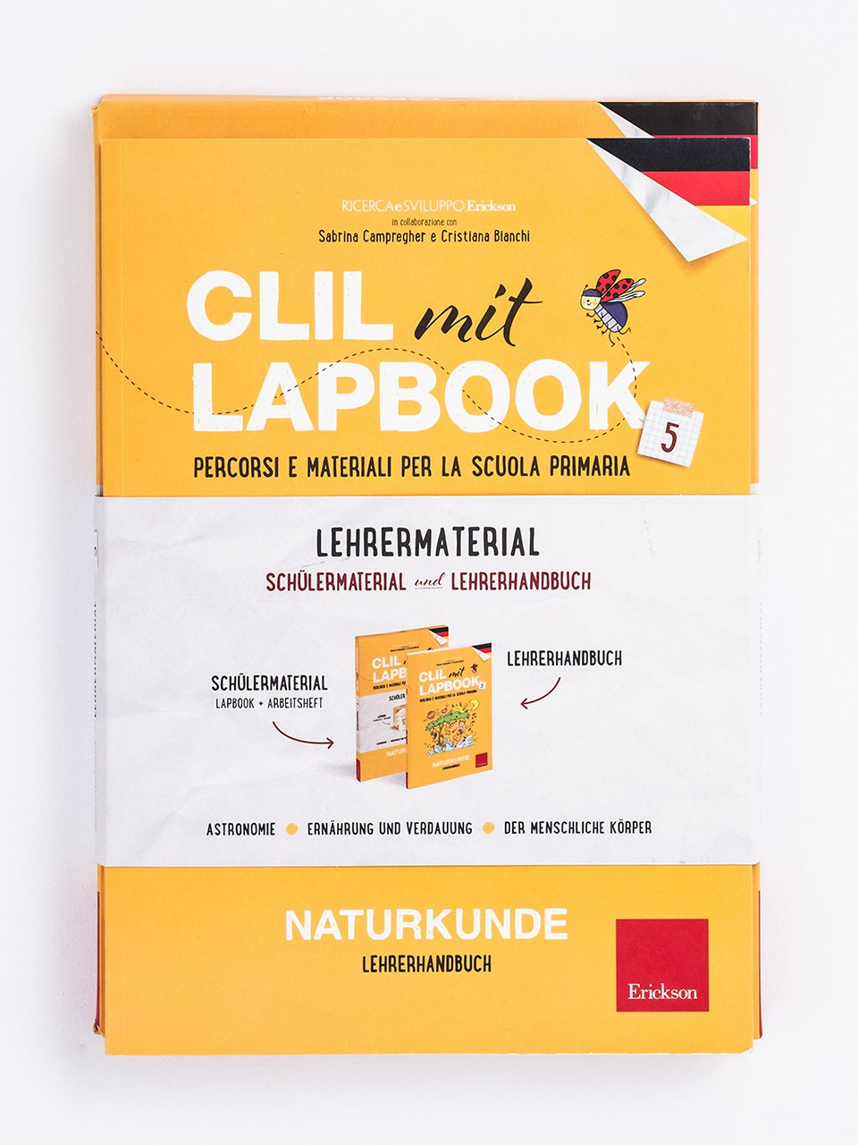 CLIL mit LAPBOOK - Naturkunde - Classe quinta - Ricerca e Sviluppo Erickson  - Erickson