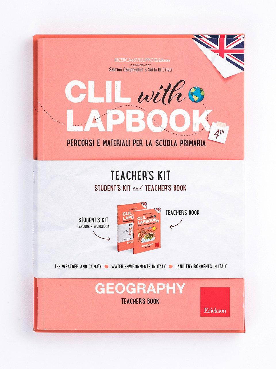 CLIL with LAPBOOK - GEOGRAPHY - Classe quarta - In viaggio dalla terra alla luna - Libri - Erickson