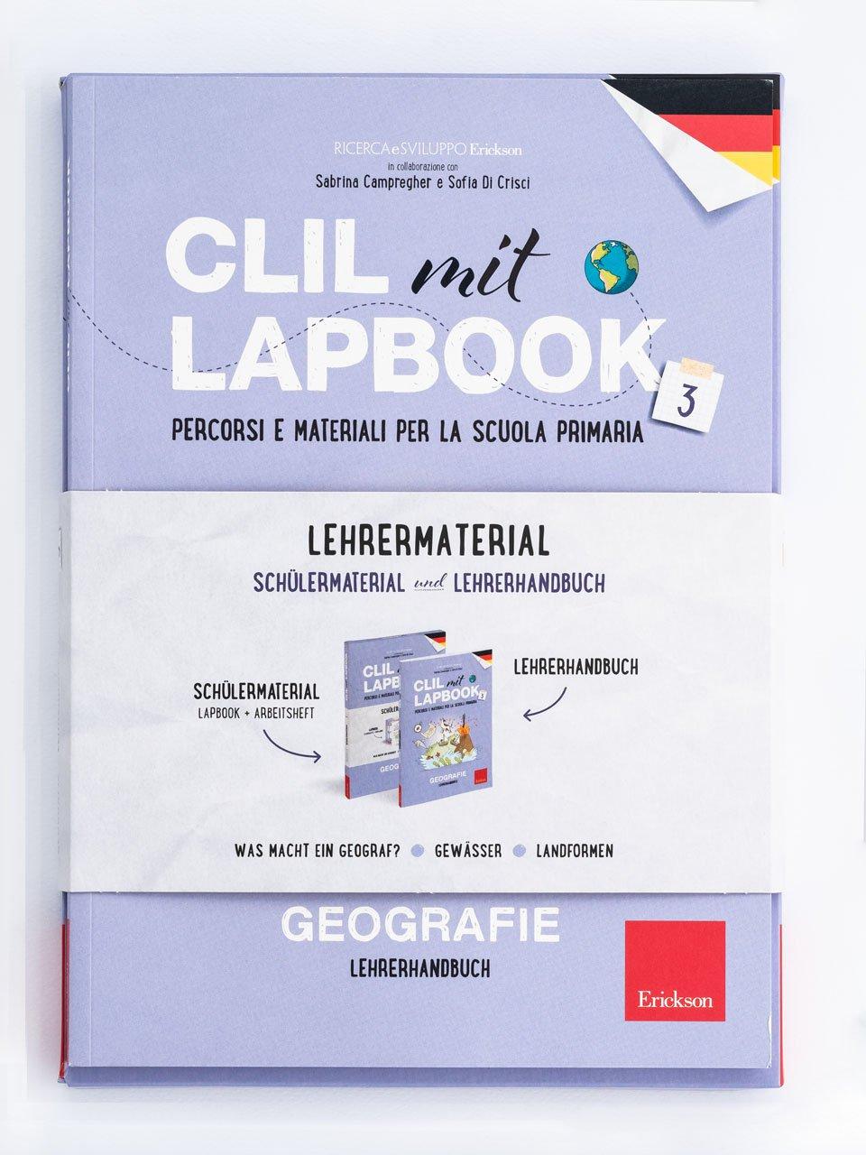 CLIL mit LAPBOOK - Geografie - Classe terza - In viaggio dalla terra alla luna - Libri - Erickson