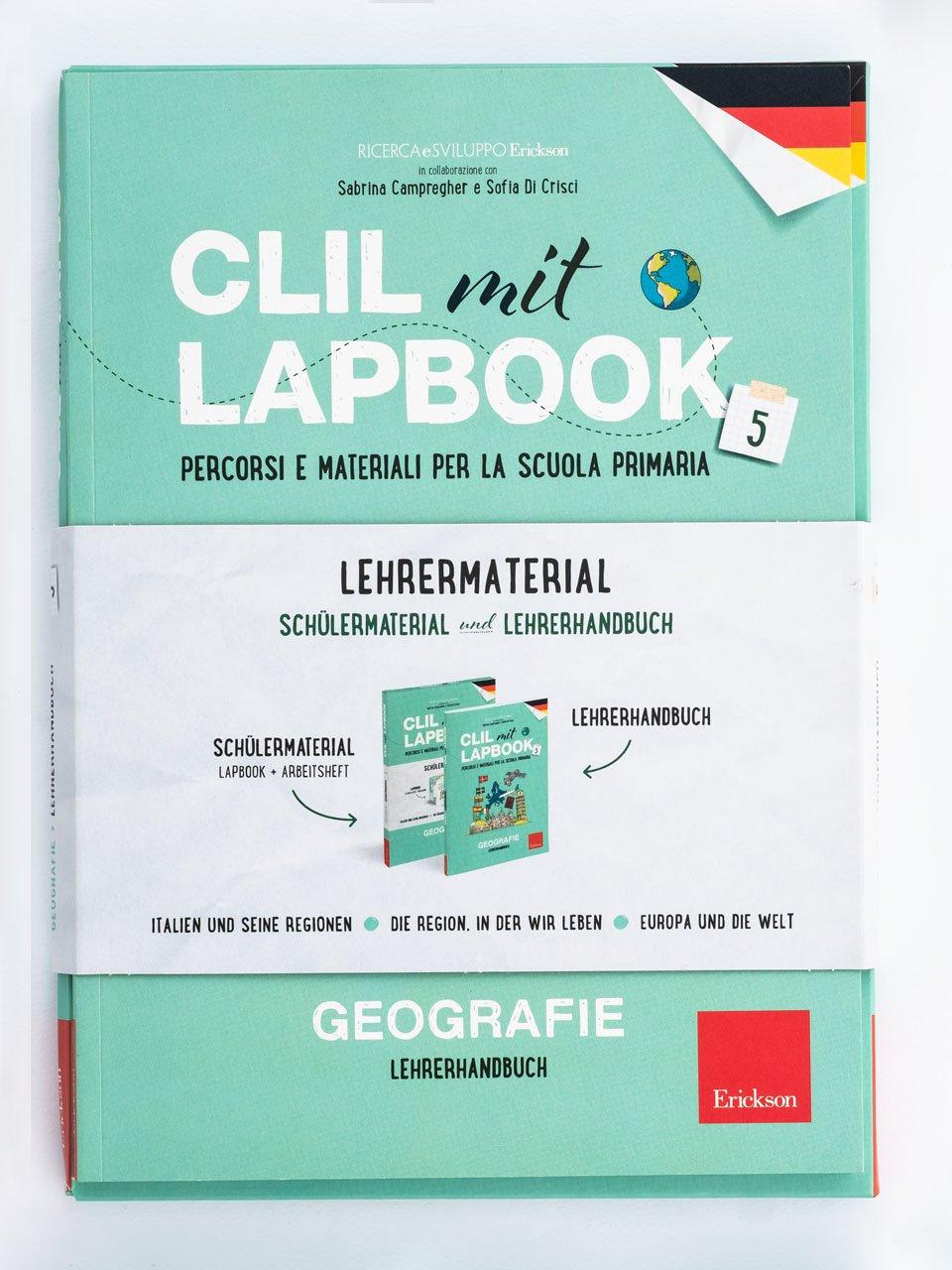 CLIL mit LAPBOOK - Geografie - Classe quinta - In viaggio dalla terra alla luna - Libri - Erickson