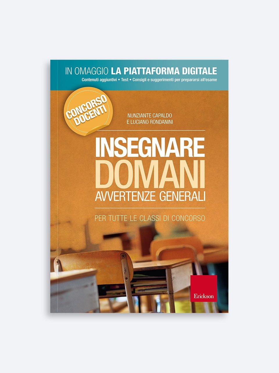 Insegnare Domani - Avvertenze generali Libro + Risorse Online - Erickson Eshop