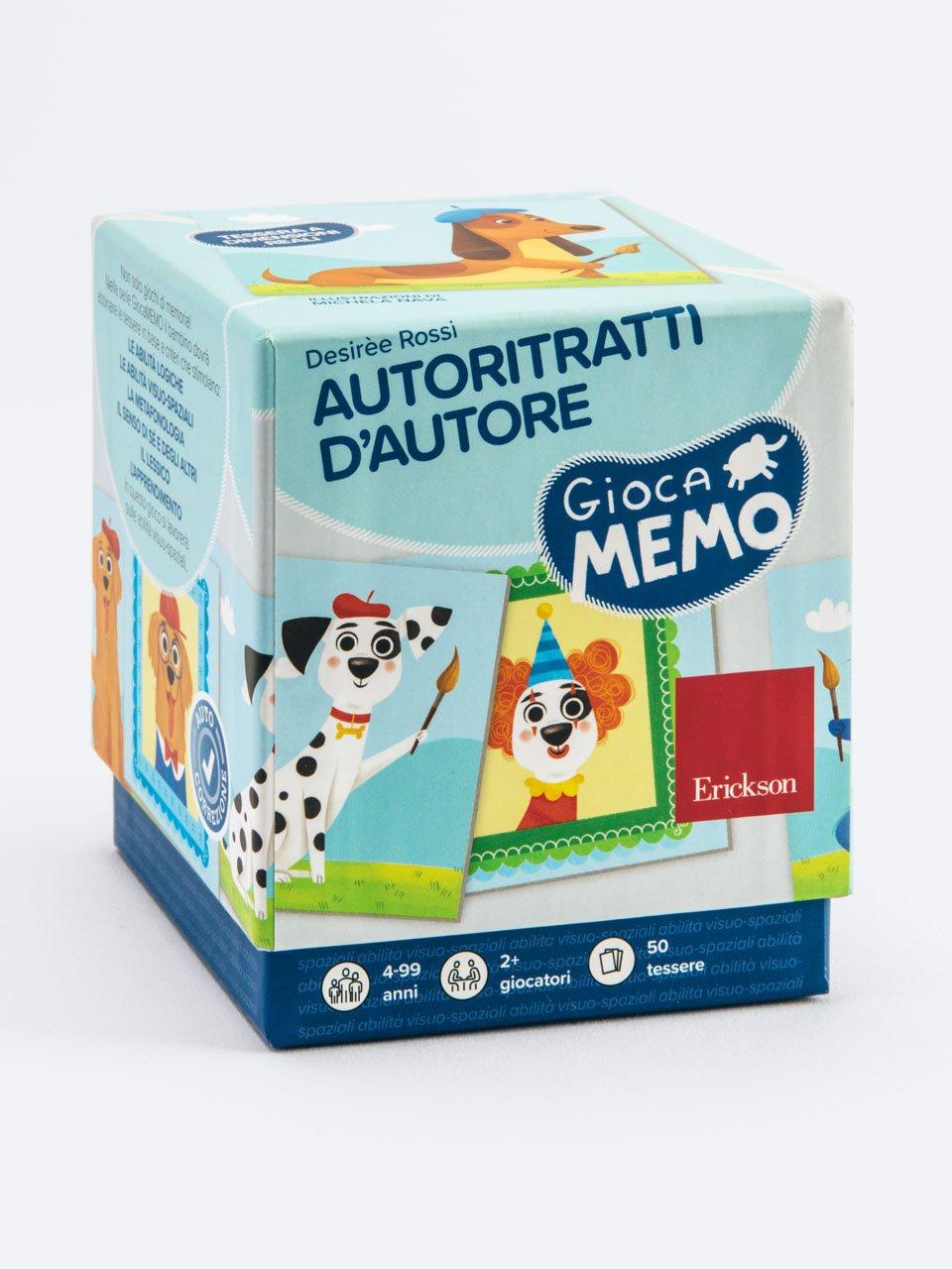 Giocamemo - Autoritratti d'autore - Giochinsieme - Colori e associazioni - Strumenti - Erickson