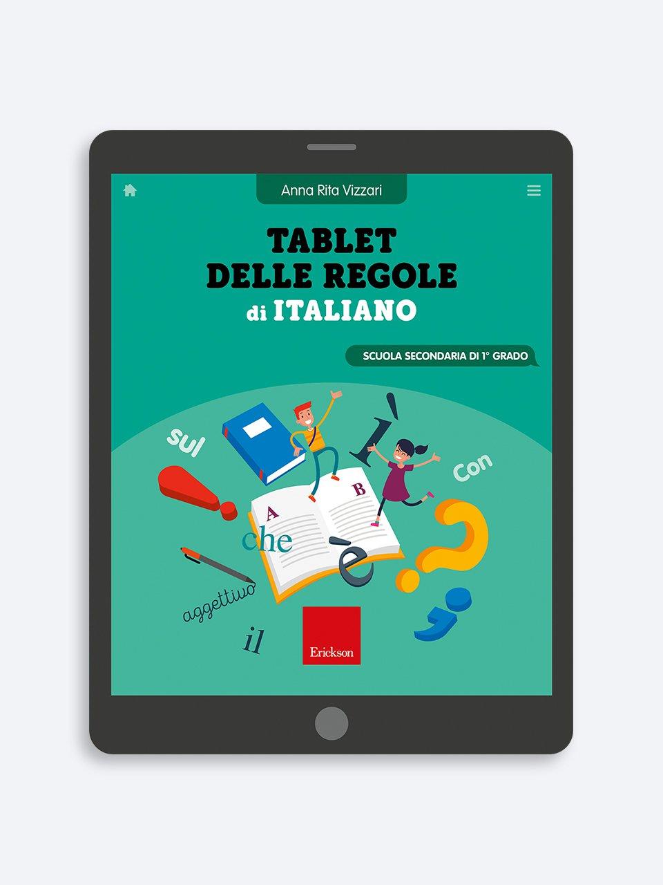 Tablet delle regole di Italiano - Libri e corsi su DSA e disturbi specifici dell'apprendimento - Erickson