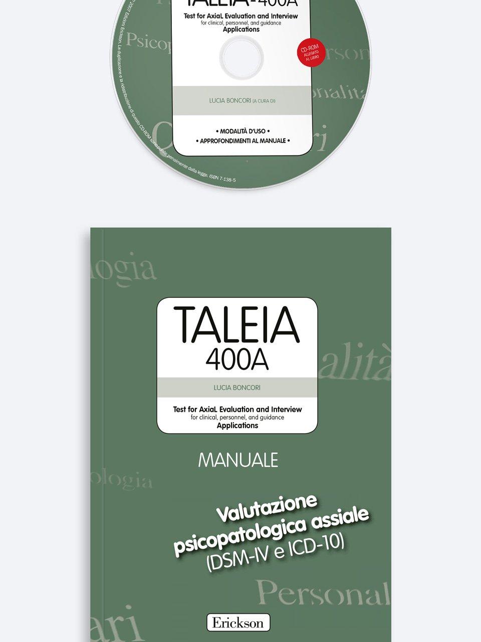 TALEIA-400A - Test for Axial Evaluation and Interview Applications - App e software per Scuola, Autismo, Dislessia e DSA - Erickson