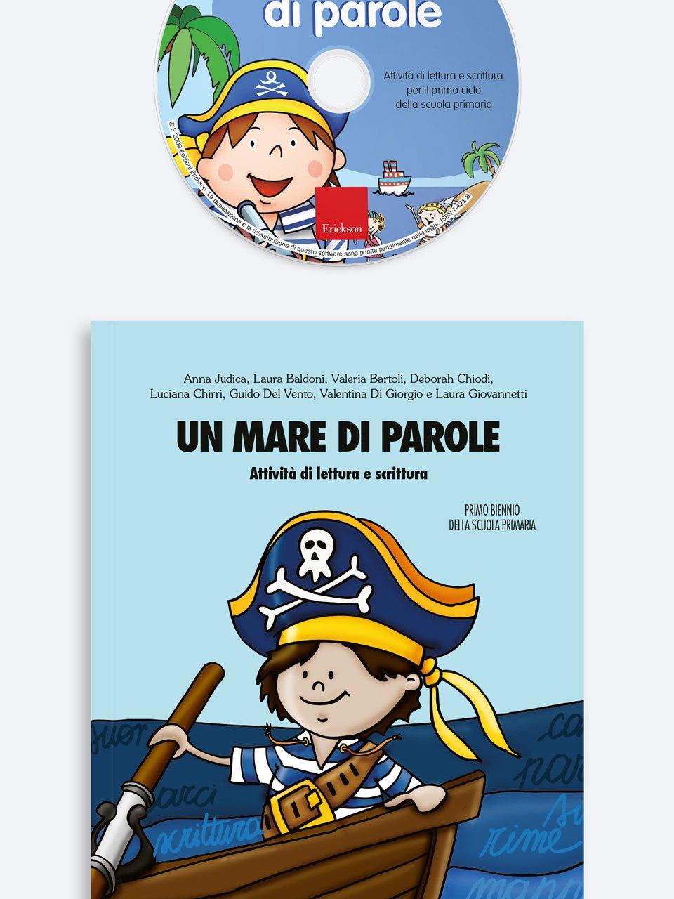Un mare di parole - Schede per Tablotto (6-8 anni) - Grammatica incant - Giochi - Erickson 3