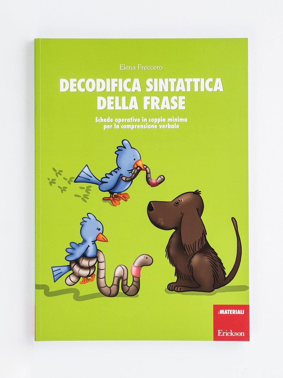 Decodifica sintattica della frase - Schede per Tablotto (6-8 anni) - I mostri dell'ort - Giochi - Erickson