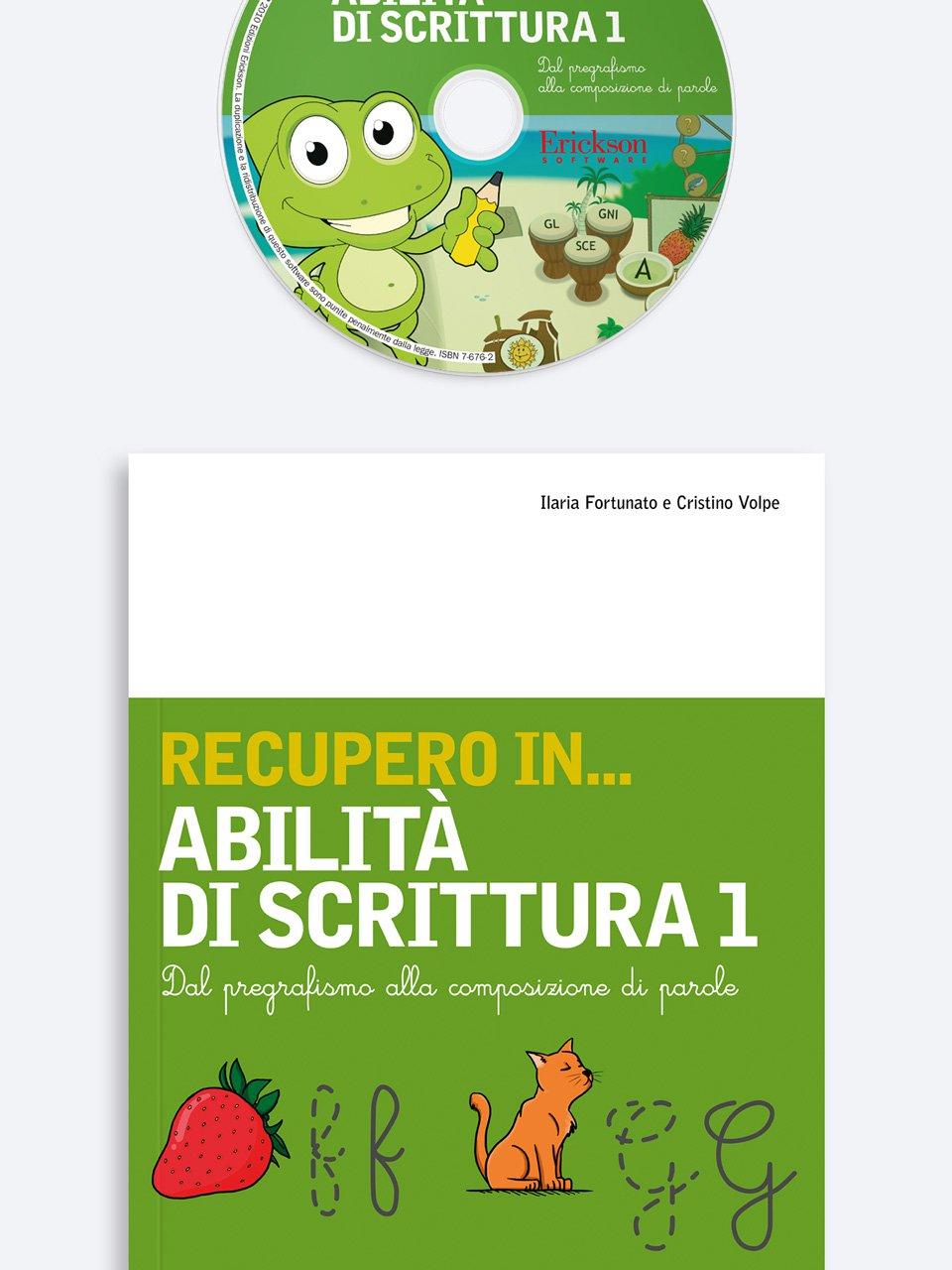 RECUPERO IN... Abilità di scrittura 1 - RECUPERO IN... Abilità di scrittura 2 - Libri - App e software - Erickson 3