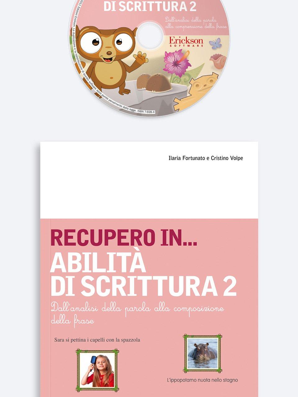 RECUPERO IN... Abilità di scrittura 2 - Abilità cognitive - Vol. 1: Percezione visiva - Libri - Erickson 3