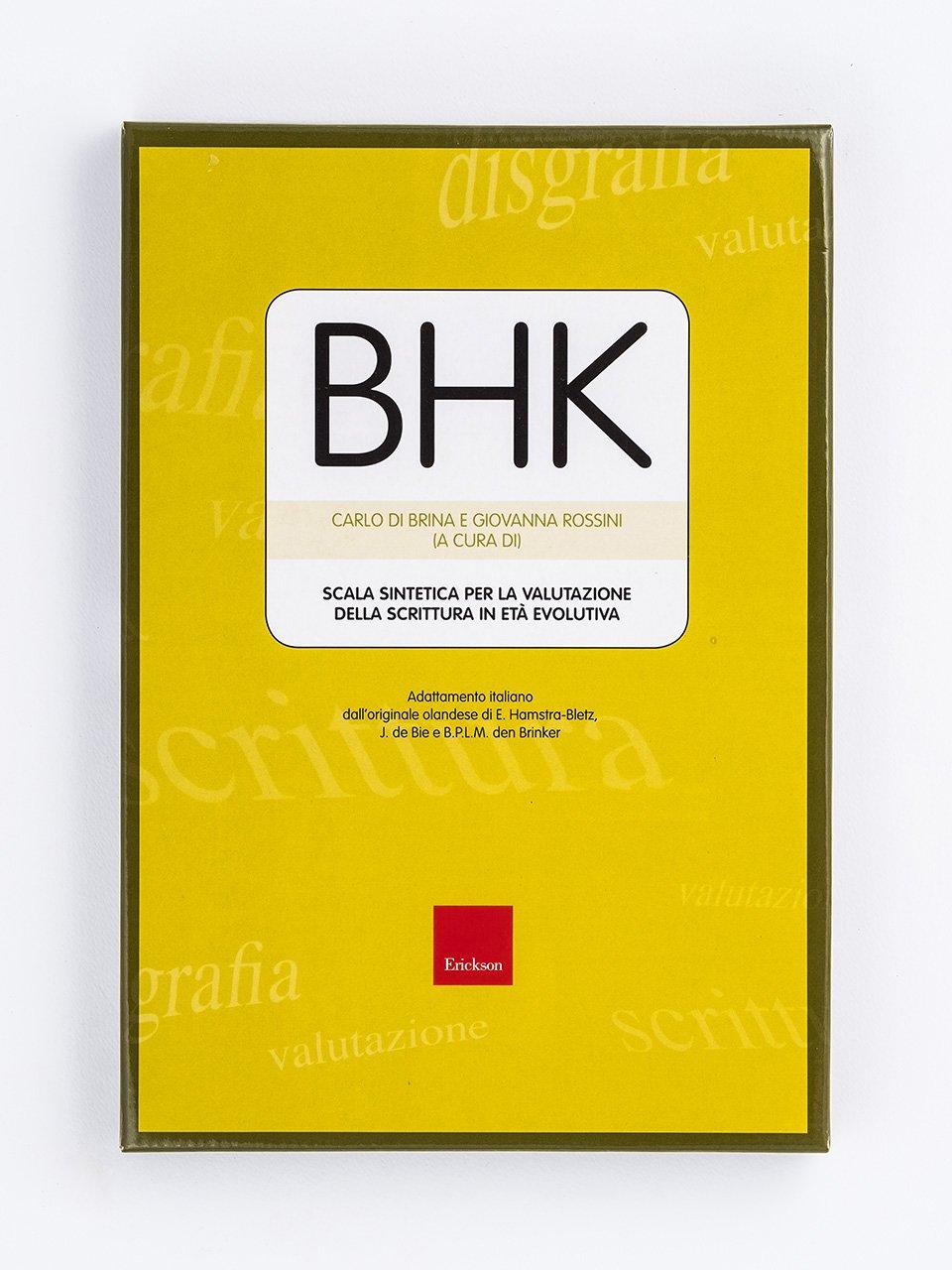 Test BHK - Scala sintetica per la valutazione dell - Libri - Erickson