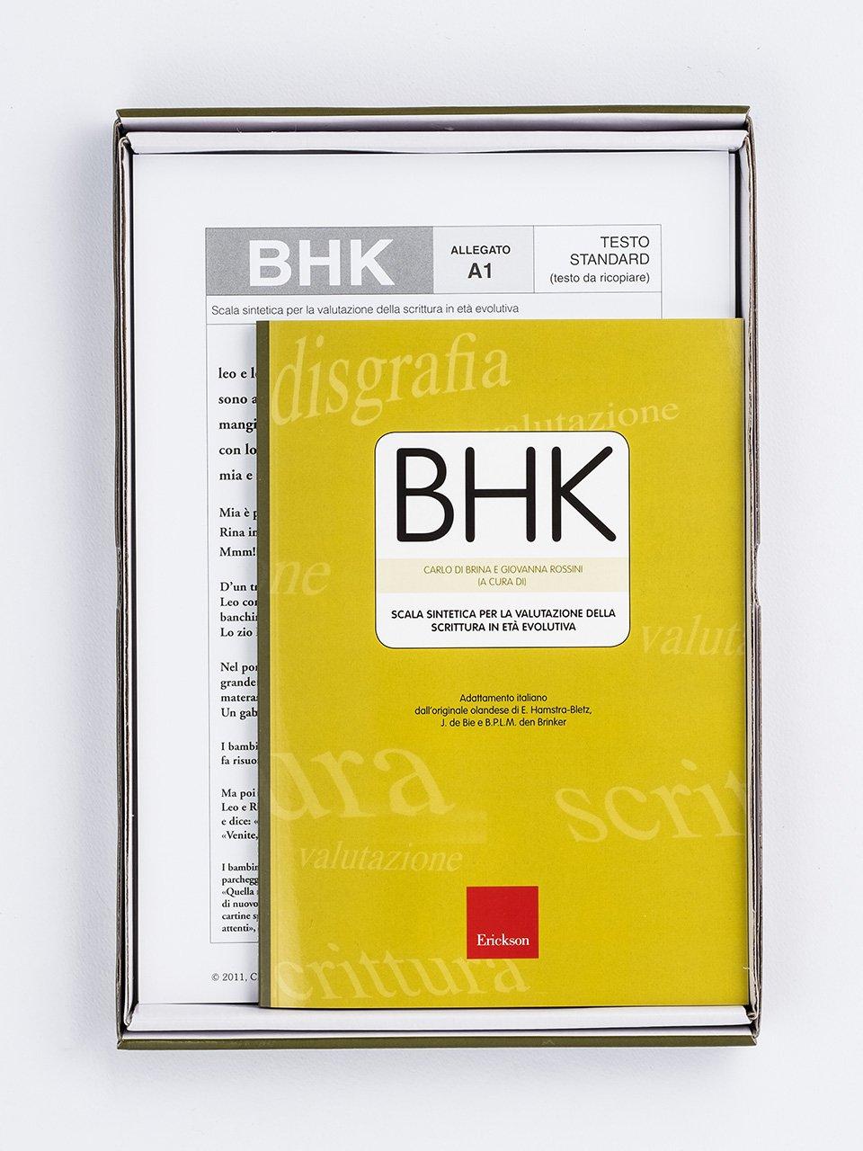 Test BHK - Scala sintetica per la valutazione dell - Libri - Erickson 2