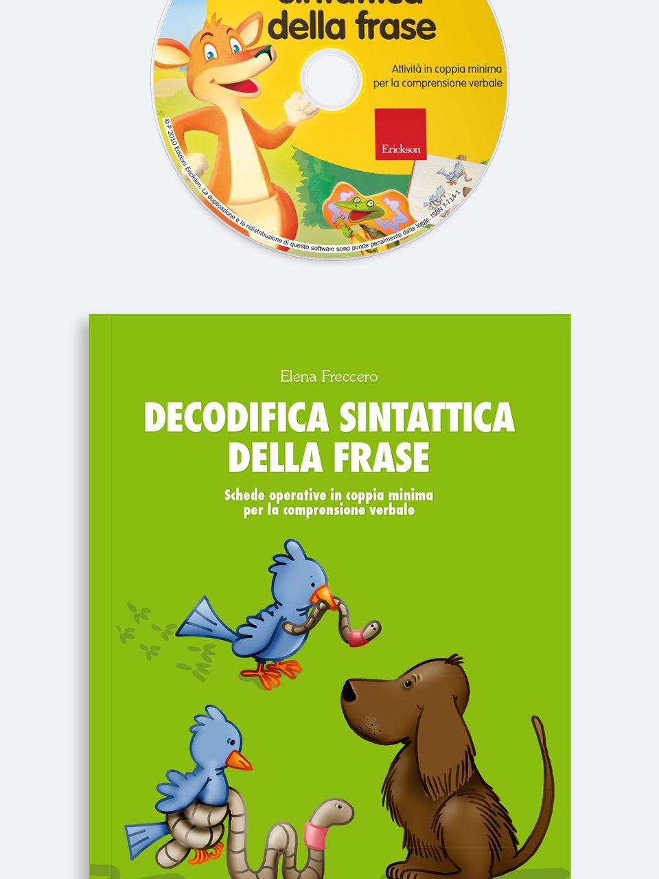 Decodifica sintattica della frase - Schede per Tablotto (6-8 anni) - I mostri dell'ort - Giochi - Erickson 3