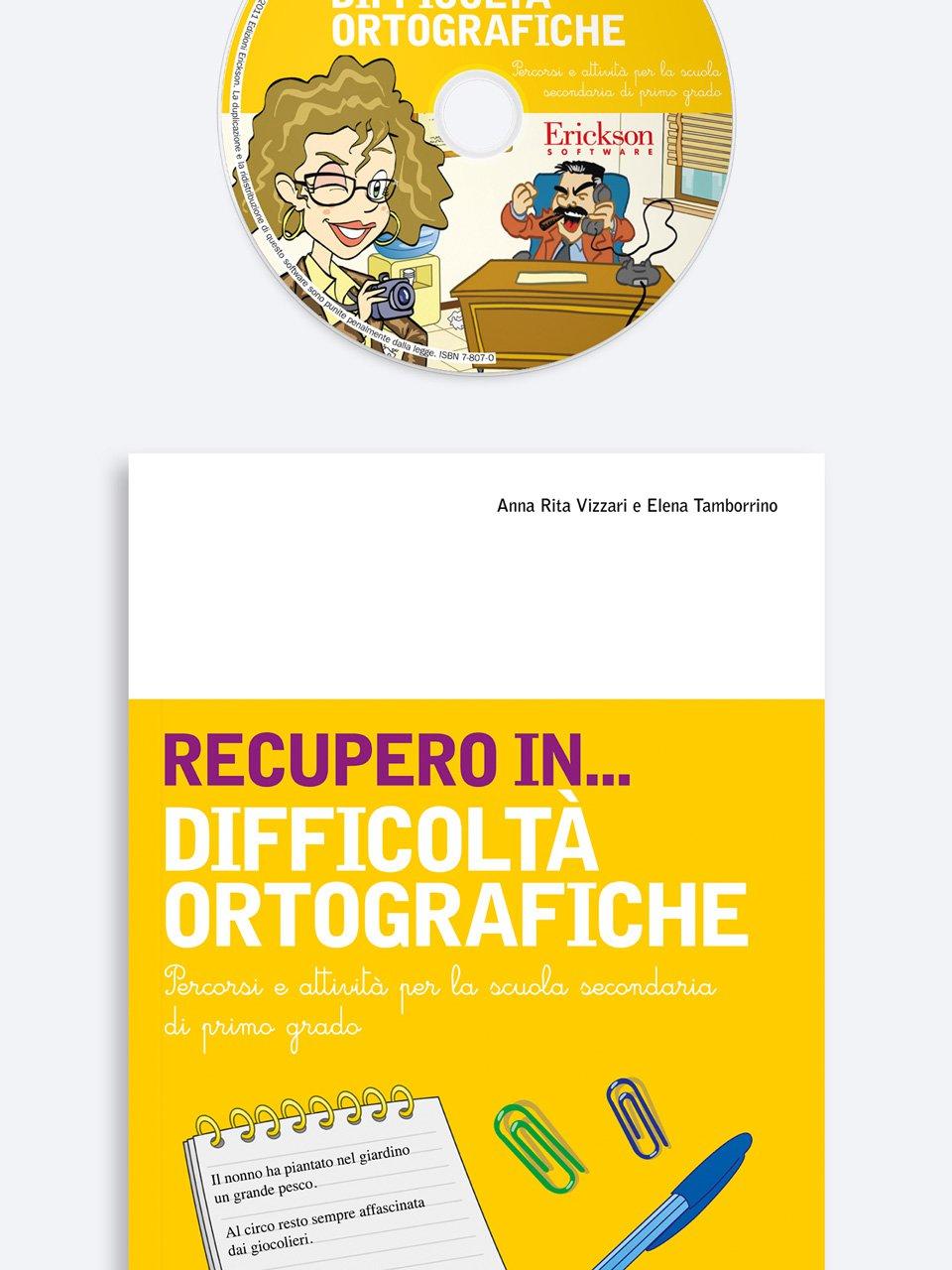RECUPERO IN... Difficoltà ortografiche - RECUPERO IN... Abilità di scrittura 2 - Libri - App e software - Erickson 3