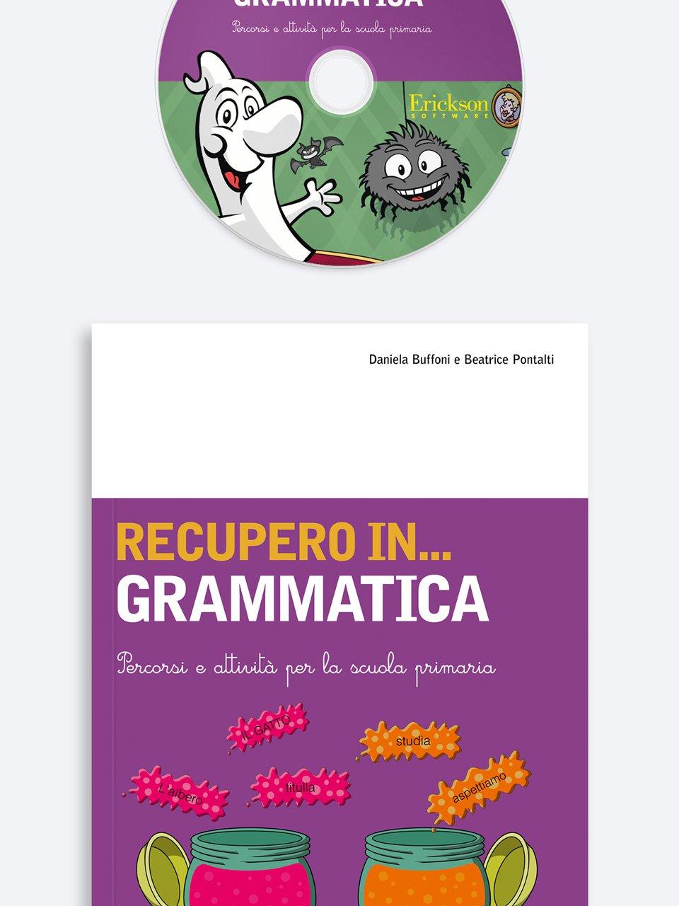 RECUPERO IN... Grammatica - App e software per Scuola, Autismo, Dislessia e DSA - Erickson 3