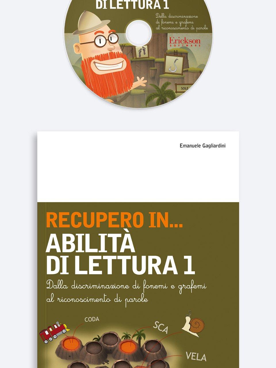 RECUPERO IN... Abilità di lettura 1 - Leggere per immagini - Libri - Erickson 3