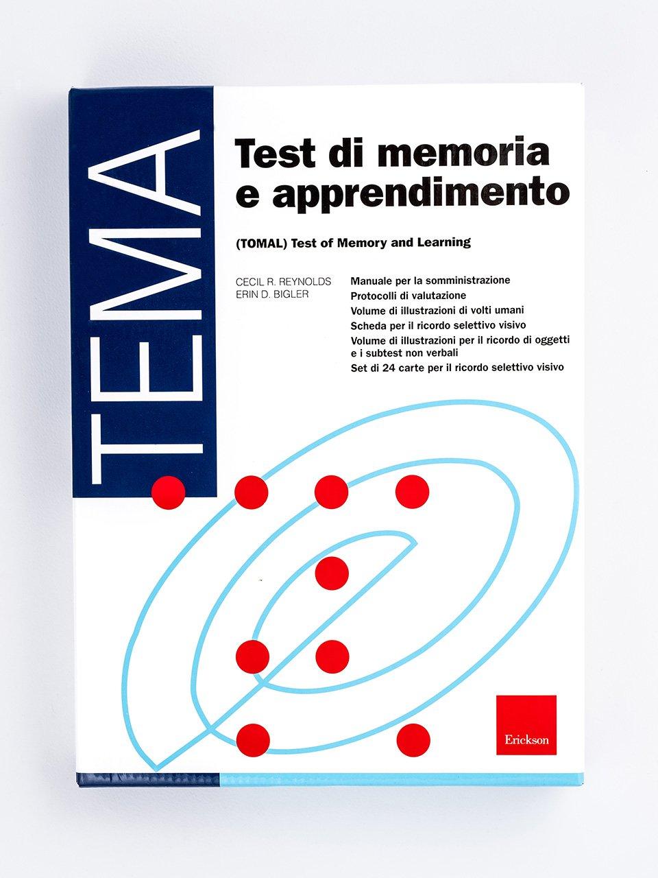 Test TEMA - Memoria e apprendimento - Libri - Strumenti - Erickson