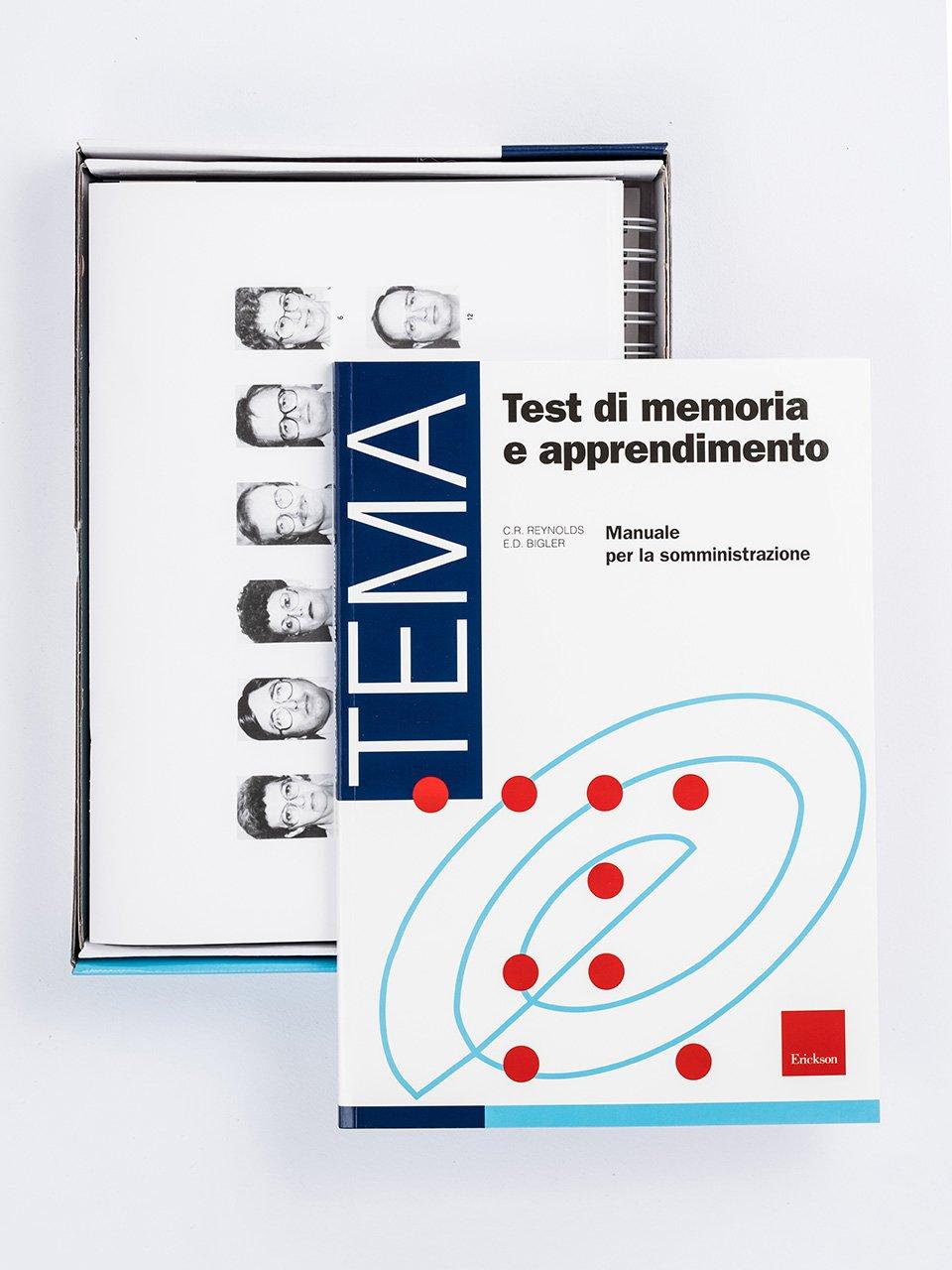 Test TEMA - Memoria e apprendimento - Libri - Strumenti - Erickson 2