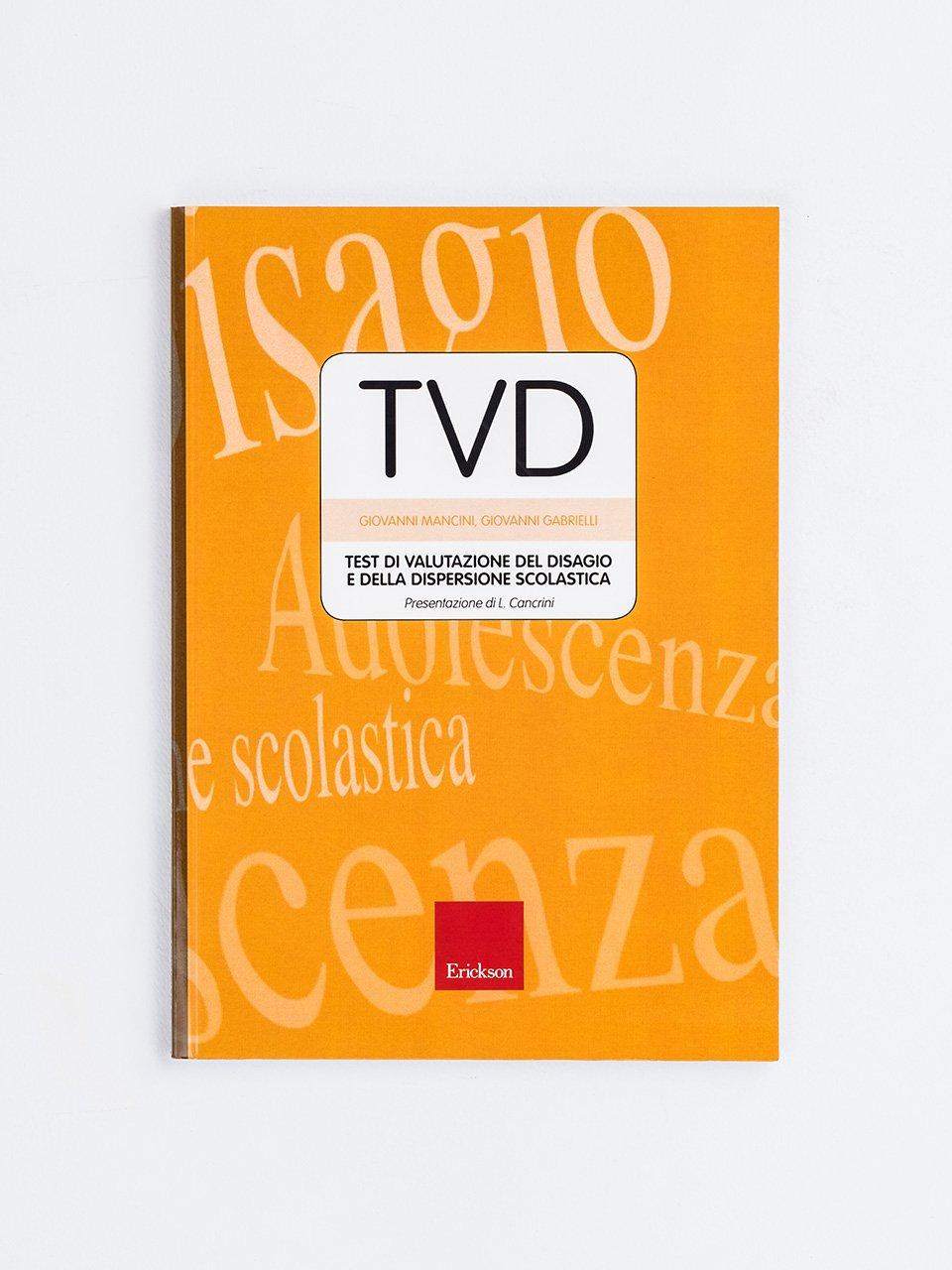 Test TVD - Valutazione del disagio e dispersione s - Libri - Erickson
