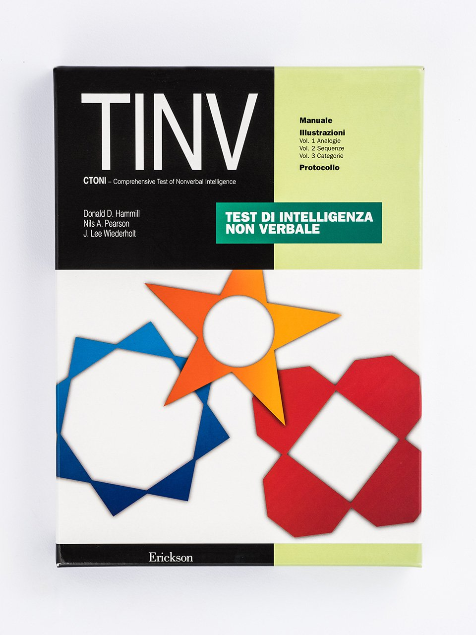 Test TINV - Intelligenza non verbale - Libri - Strumenti - Erickson