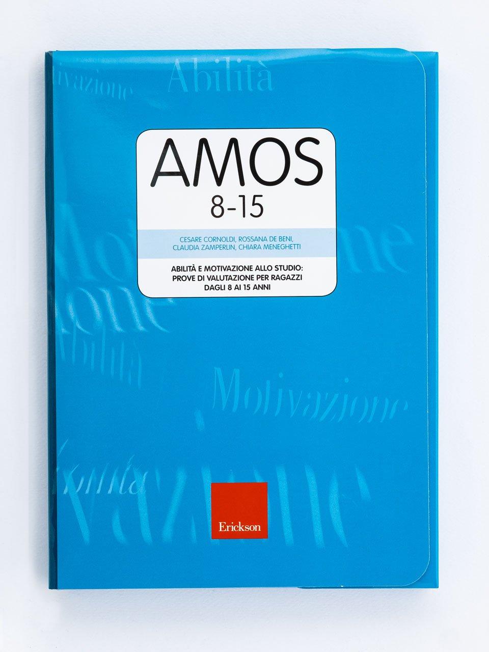 Test AMOS 8-15 - Abilità e motivazione allo studio: prove di valutazione per ragazzi dagli 8 ai 15 anni - Studiare meglio e riuscire all'università - Libri - Erickson