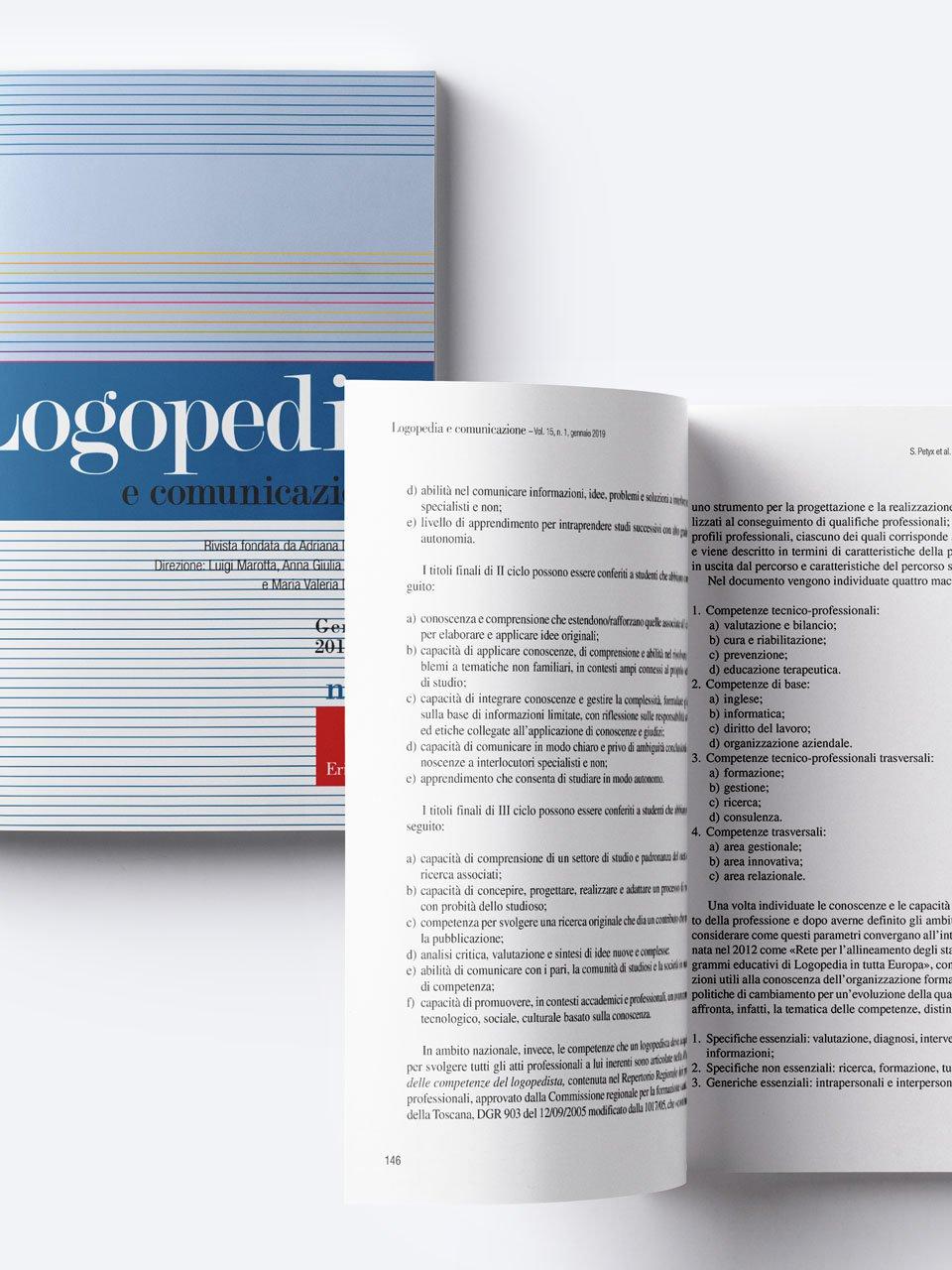 Logopedia e comunicazione - Riviste - Erickson 3