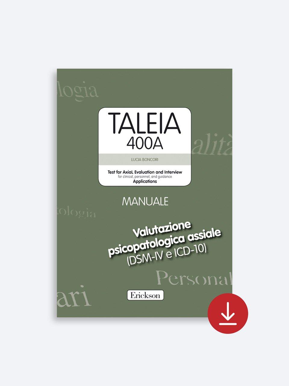 TALEIA-400A - Test for Axial Evaluation and Interv - Libri - App e software - Strumenti - Erickson 4