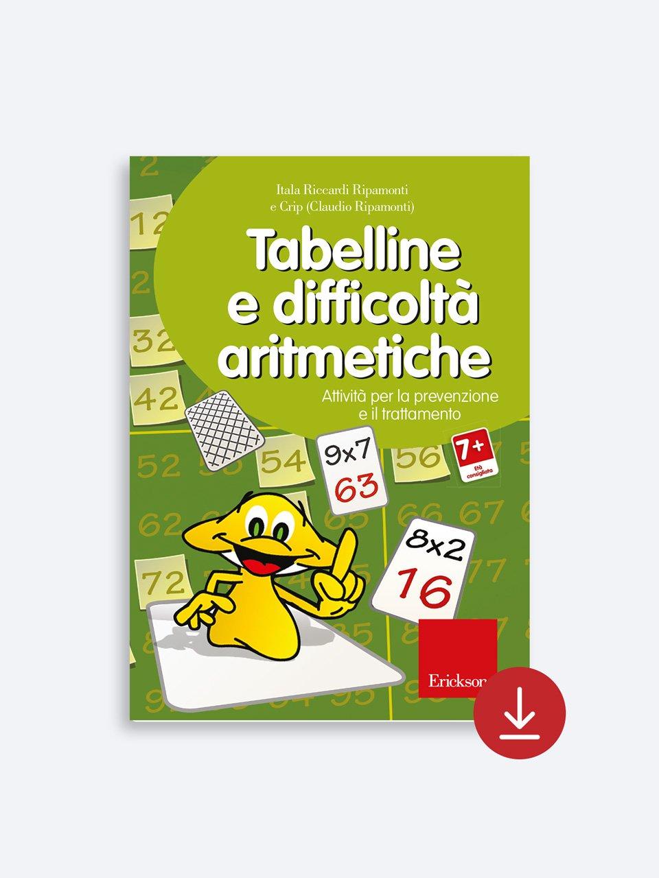 Tabelline e difficoltà aritmetiche - Libri - App e software - Erickson 6