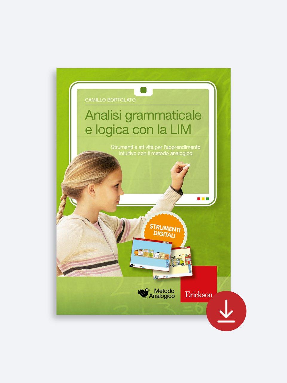 Analisi grammaticale e logica con la LIM - Metodo Analogico altre proposte - Erickson 2