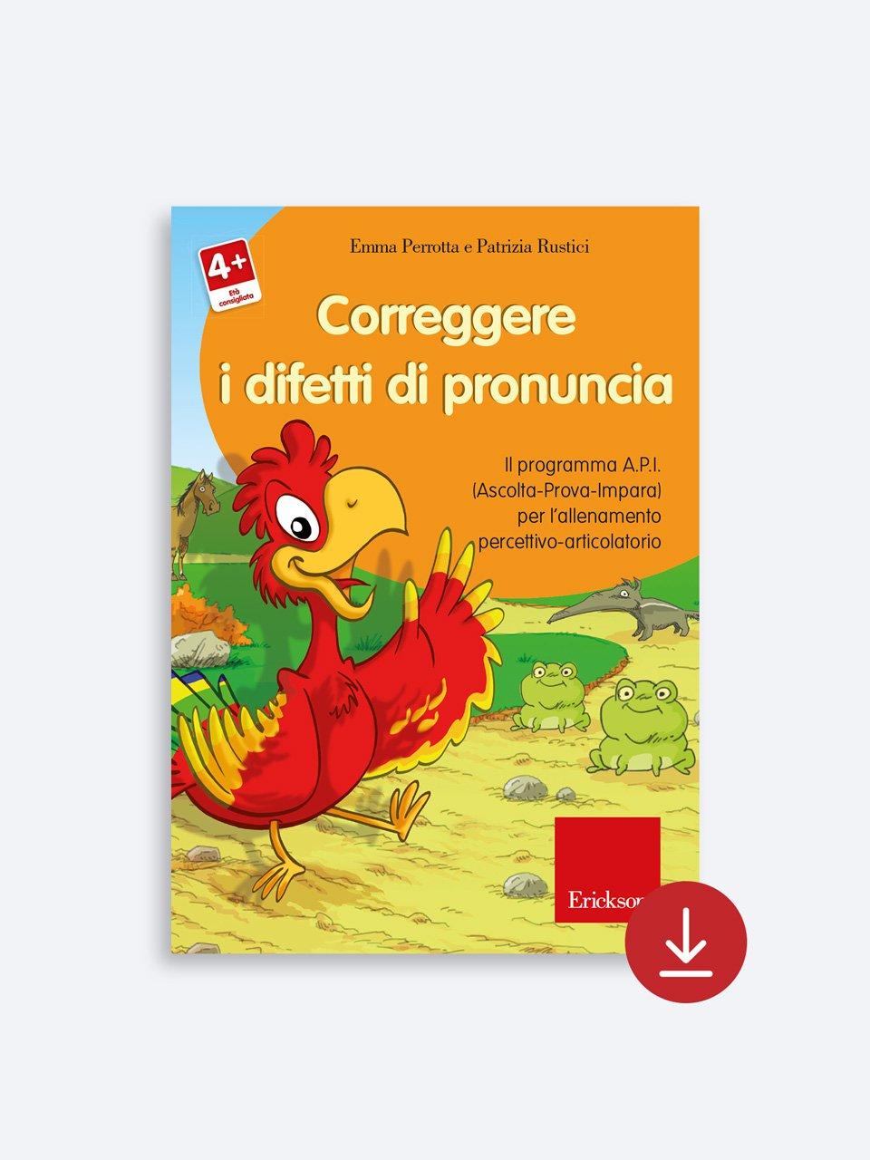 Correggere i difetti di pronuncia - Test TVL - Valutazione del linguaggio - Libri - Strumenti - Erickson 2