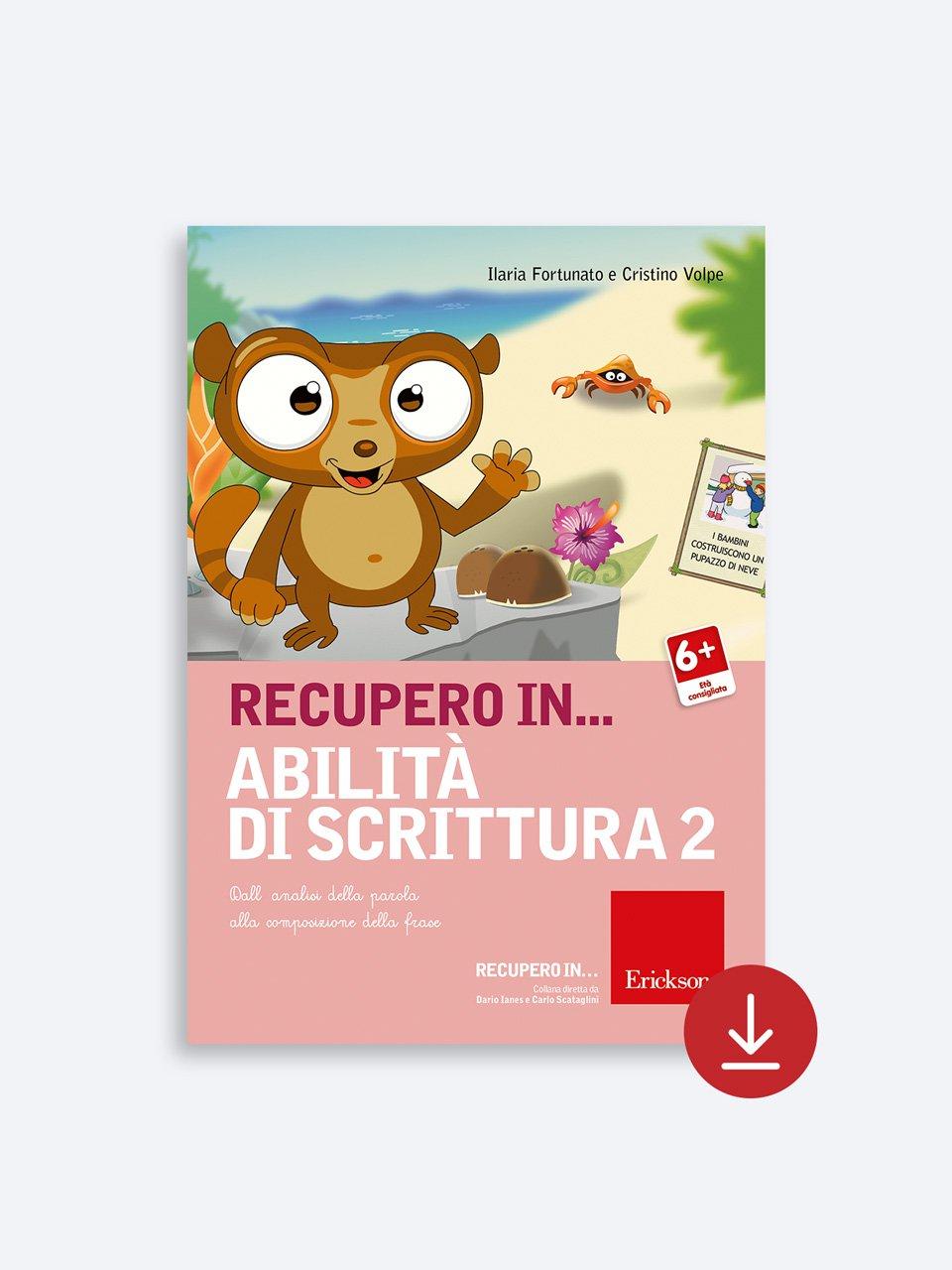 RECUPERO IN... Abilità di scrittura 2 - Libri - App e software - Erickson 5