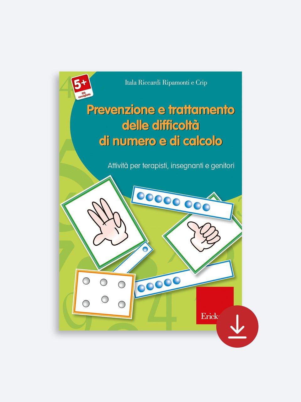 Prevenzione e trattamento delle difficoltà di numero e di calcolo - Tabelline e difficoltà aritmetiche - Libri - App e software - Erickson 3