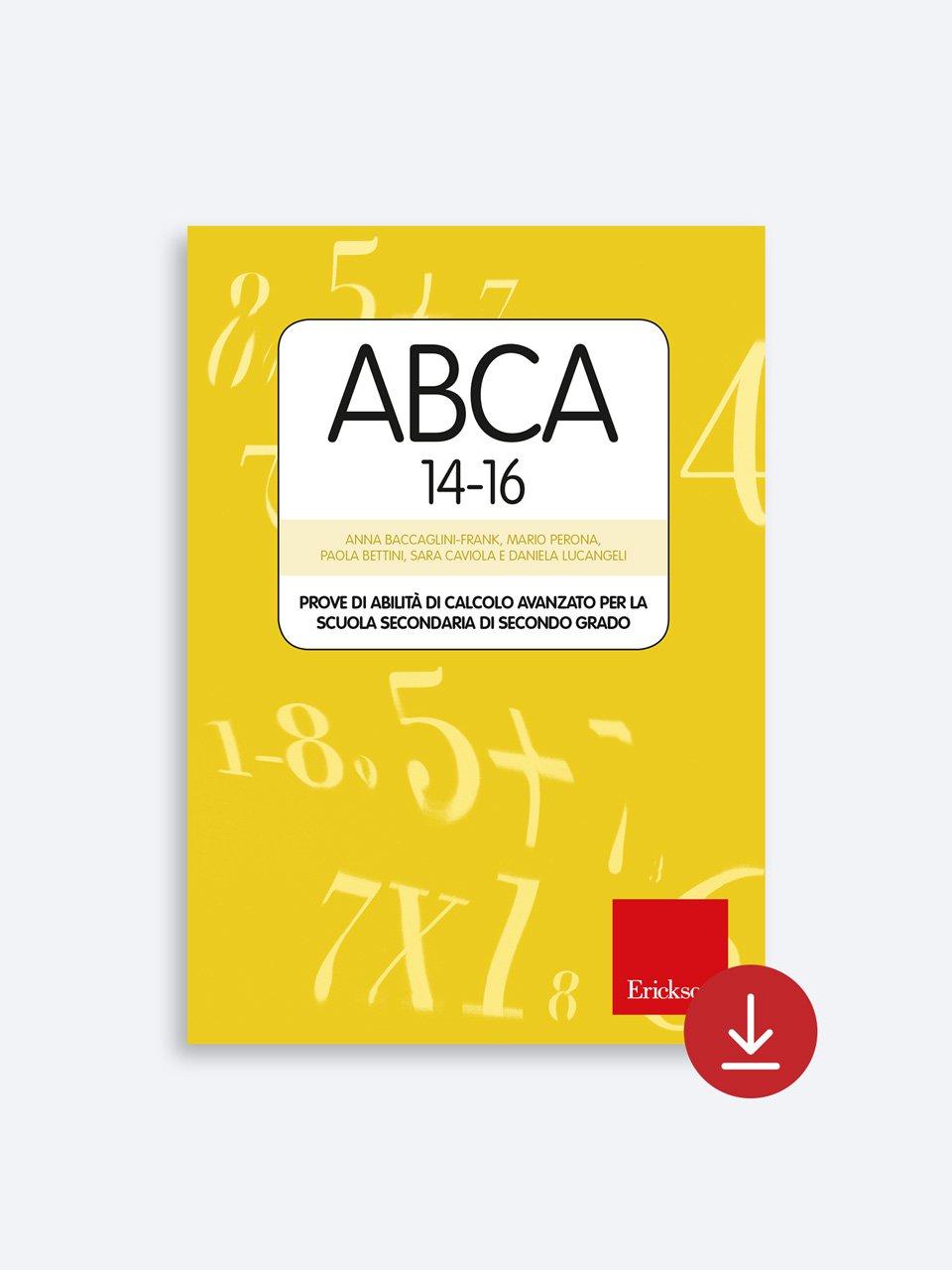 Test ABCA 14-16 - Daniela Lucangeli - Erickson 2