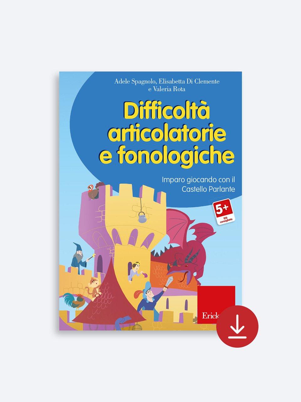 Difficoltà articolatorie e fonologiche - Un gioco di P.A.R.O.L.E. - Strumenti - Erickson 2